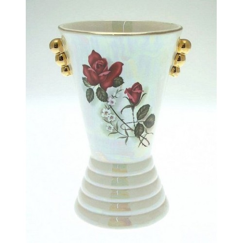 Vintage Arthur Wood Vase Art Deco In Style And With A Pearlised