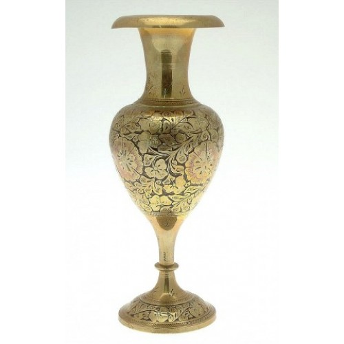 Brass Indian Urn/Vase :: Vases & Urns :: Metalwork :: Beaux Arts