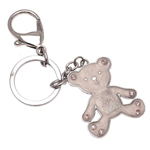Ladies handy Teddy Bear bag charm or keyring charm - You Are Mine teddy bear  design Bag Charms and accessories by iauctionshop.co.uk a512964527cc