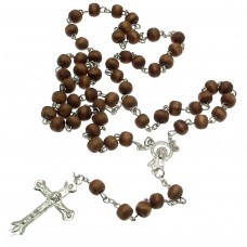 Rosary Beads Prayer Beads Rosary Necklace Black Crucifix Necklace SNT15