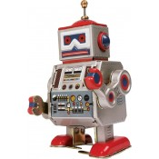 Robot toys including tin plate robots and schilling toys