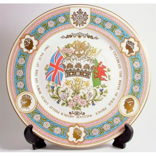 caverswall birth of prince william plate le 2000 only cp280